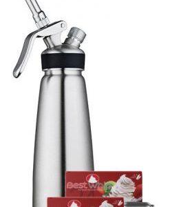 1 Pint Stainless Steel Cream Dispenser Combo