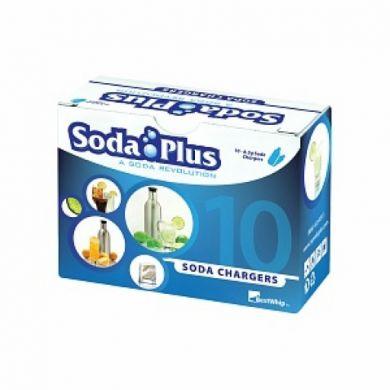 Soda Plus 8 gram CO2 Cartridges 10 Pack